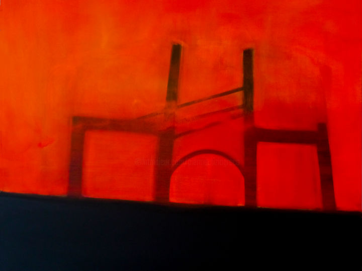 versoilconfine - Painting,  31.5x39.4 in, ©2008 by Pier Maurizio Greco -