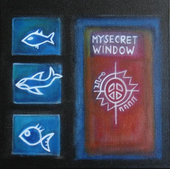 my secret window - Painting,  11.8x11.8 in, ©2009 by Pier Maurizio Greco -