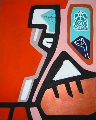nel tempo - Painting,  39.4x31.5 in, ©2004 by Pier Maurizio Greco -
