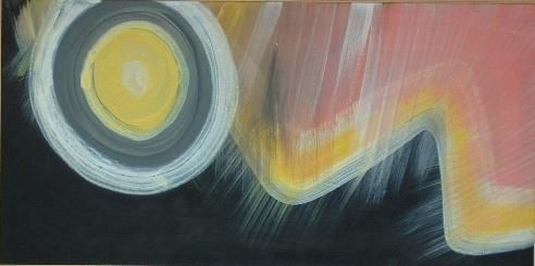 elementi in tempesta - Painting,  100x50 cm ©1996 by Pier Maurizio Greco -
