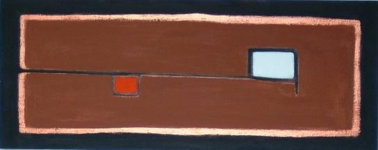 legnoterritorio - Painting,  100x40 cm ©2000 by Pier Maurizio Greco -