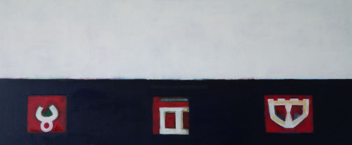 tavolacretese - Painting,  40x100x3 cm ©2015 by Pier Maurizio Greco -                            Abstract Art, abstract art