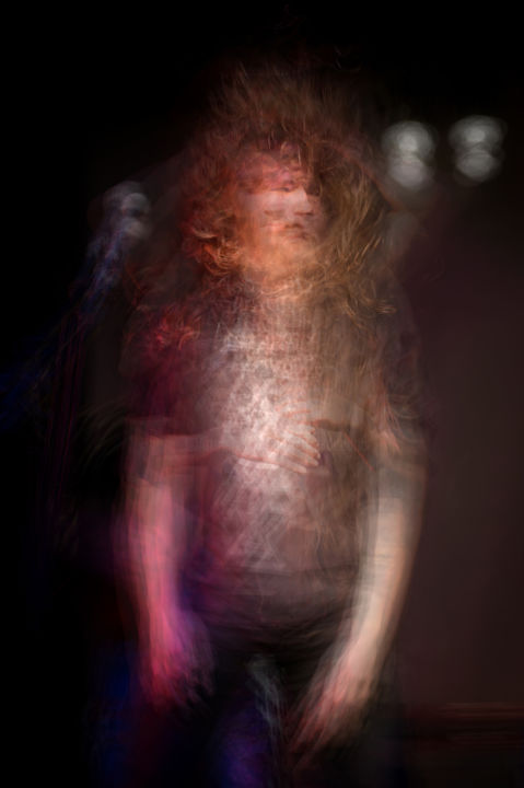 Ghost #12 - Photography,  29.5x19.7 in, ©2019 by PIERRE DUQUOC -                                                                                                                                                                                                                                                                                                                                                                                                                                                                                                  Abstract, abstract-570, Abstract Art, Colors, Music, Portraits, ghost, fantome, flou, impressionisme