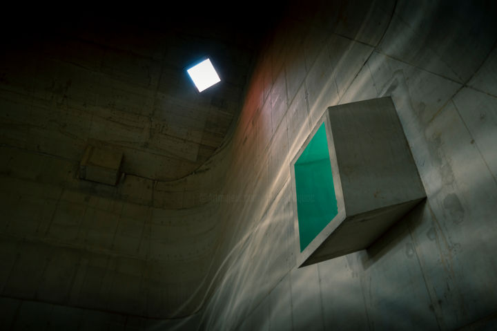 Firminy #1 - Photography,  15.8x23.6 in, ©2020 by Pierre Duquoc -                                                                                                                                                                                                                                                                                                                                                                                                                                                      Conceptual Art, conceptual-art-579, Architecture, Colors, Geometric, Light, firminy, le corbusier, église