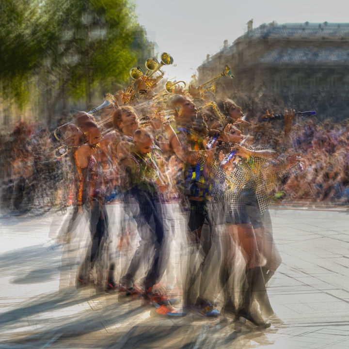 Ghost #29 - Photography,  19.7x19.7 in, ©2020 by Pierre Duquoc -                                                                                                                                                                                                                                                                                                                                                                                                                                                                                                                                                                                                                                      Conceptual Art, conceptual-art-579, Abstract Art, Performing Arts, Colors, Music, Portraits, ghost, fantome, blur, danse, concert, mouvement