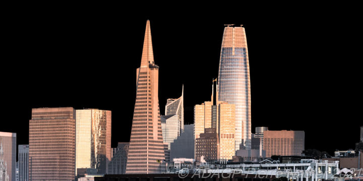 """Photography titled """"San Francisco Dark…"""" by Pierre Nadler, Original Art, Digital Photography Mounted on Other rigid panel"""