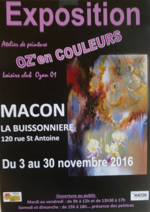 affichette-expo-macon.jpg - Painting,  40x30 cm ©2016 by Pierre Feyeux -