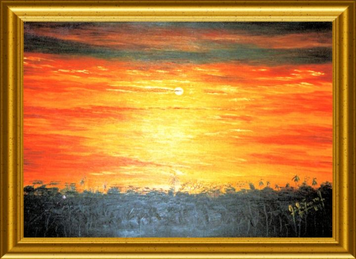 NUITS PARAGUAYENNES - Painting, ©2013 by Pili Gaona -                                                              PAINTURE A L' HUILE