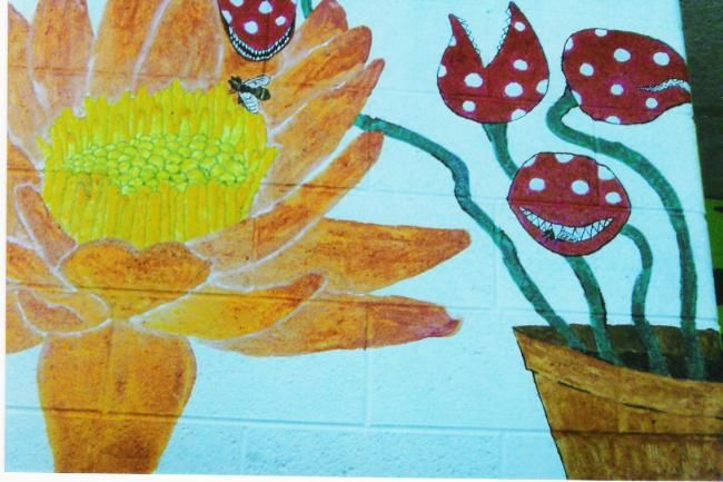 """Painting titled """"Hallway Flytrap"""" by Andy Rux, Original Art, Oil"""