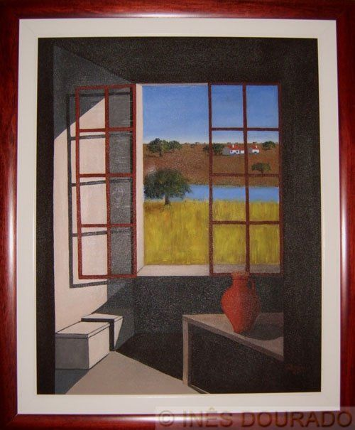Água: O sonho do Alentejo (Water: Alentejo dream) - Painting,  70x90 cm ©1997 by Inês Dourado -                            Contemporary painting, Simbolismo (Symbolisme)