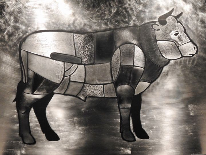 """Sculpture titled """"""""MANZO"""""""" by Pio30, Original Art, Stainless Steel"""
