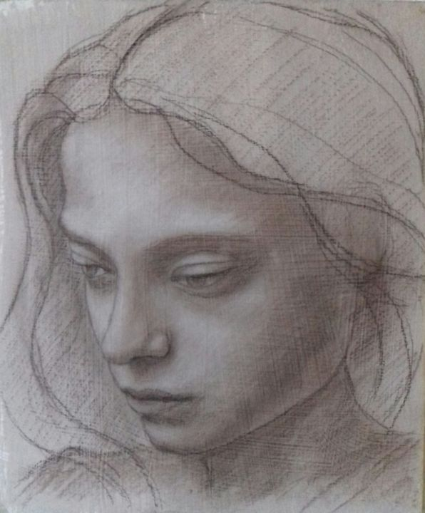 20190303-125119-1.jpg - Drawing,  8.5x7.1x0.1 in ©2014 by piotr1opole -                                                        Classicism, Other, Portraits