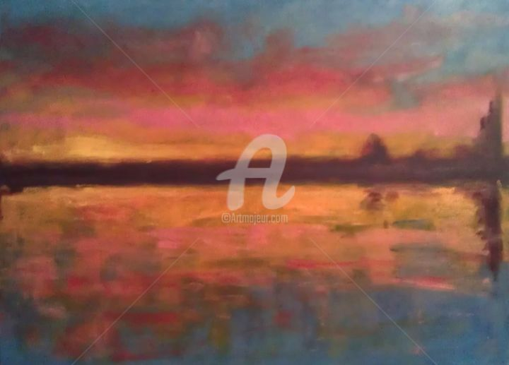 """Painting titled """"Sunset 2012"""" by Piotr, Original Art, Oil"""