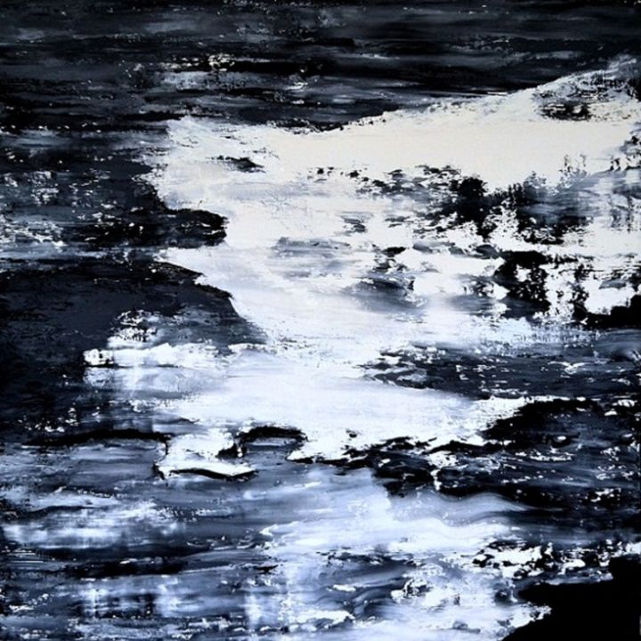 mental 6  -  100x100 - - Painting,  100x100 cm ©2012 by Fabrice Plisson -                                                            Abstract Expressionism, Canvas, Abstract Art, paysage
