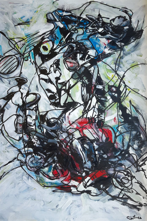 """Painting titled """"Espace didéral"""" by Lise Poitras, Original Art, Acrylic"""