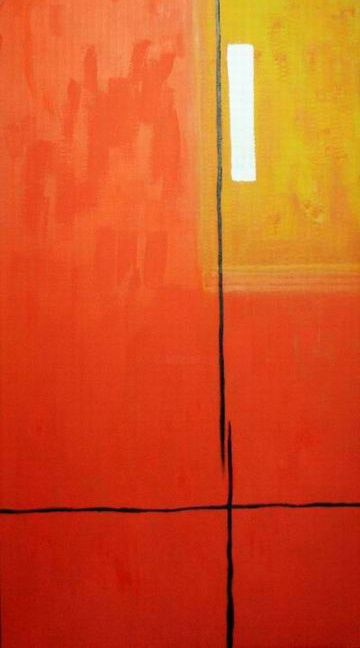 A-1 - Painting,  83.5x39 cm ©2005 by Andrey Poliakov -                        Abstract Art