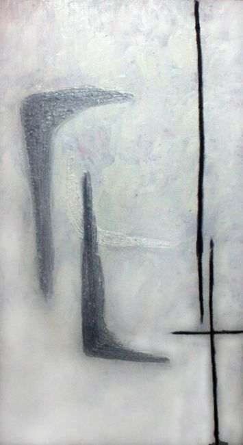 A-2 - Painting,  39x83.5 cm ©2005 by Andrey Poliakov -                        Abstract Art