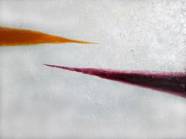 A-5 - Painting,  49x39.7 cm ©2005 by Andrey Poliakov -                        Found objects