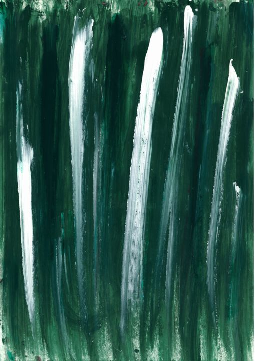 """Painting titled """"Forest fields"""" by Maria Polunina, Original Art, Acrylic"""