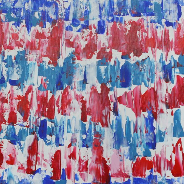 """Painting titled """"Blue and red"""" by Maria Polunina, Original Art, Acrylic"""