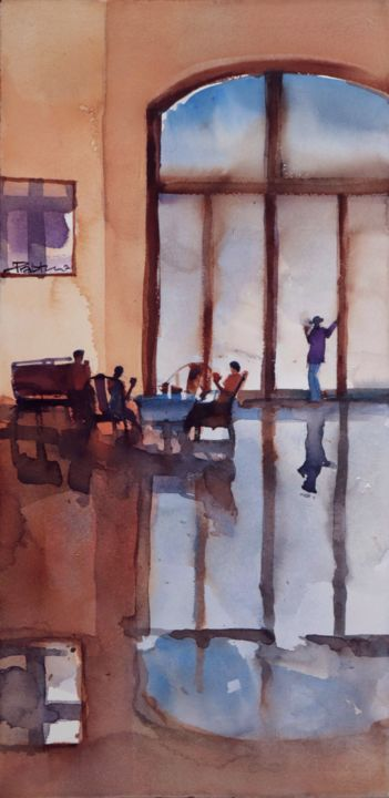 """Painting titled """"For friends, four f…"""" by Prashant Prabhu, Original Art, Watercolor"""