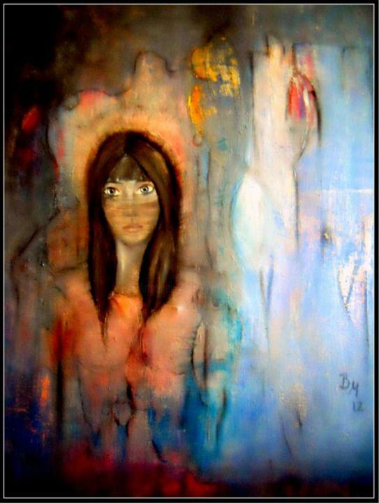 Trapped - Painting, ©2012 by BarbaraM -                                                              People