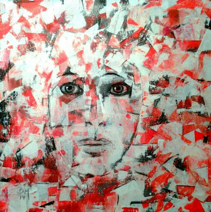oT - Painting, ©2014 by BarbaraM -                                                                                                                                                                          Abstract, abstract-570, Portraits