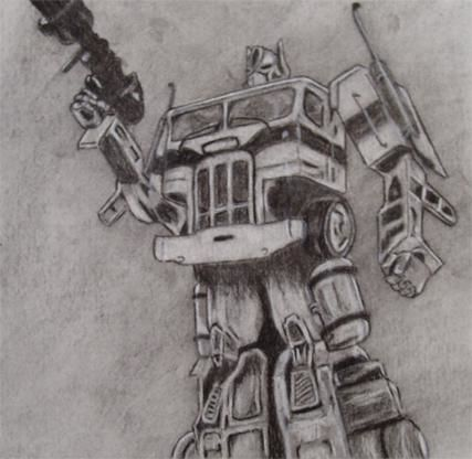 Optimus Prime Drawing By Michael Bailey Artmajeur