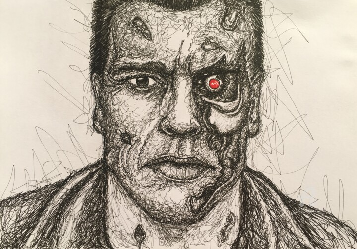 """I'll be back"" - © 2018 sarah connor, the terminator, arnold schwarzenegger Online Artworks"