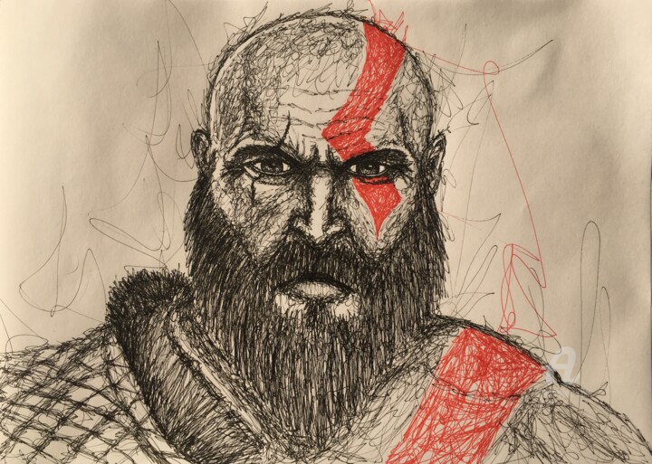 The God of War - © 2018 kratos, godofwar, gow, videogames Online Artworks