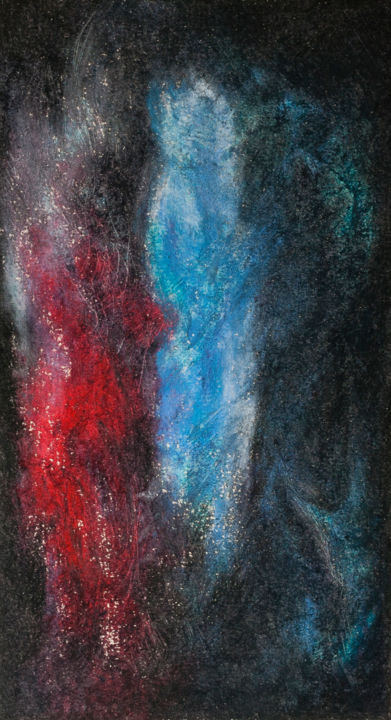 Guardians - © 2017 Gardiens, Seraph, Blue and Red, Nephilim, Light into Darkness, Illuminate Online Artworks