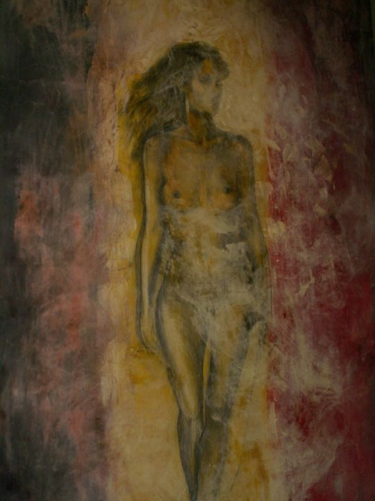 ASTRID - Painting, ©2017 by Puchi -                                                                                                                                                                          Figurative, figurative-594, Women