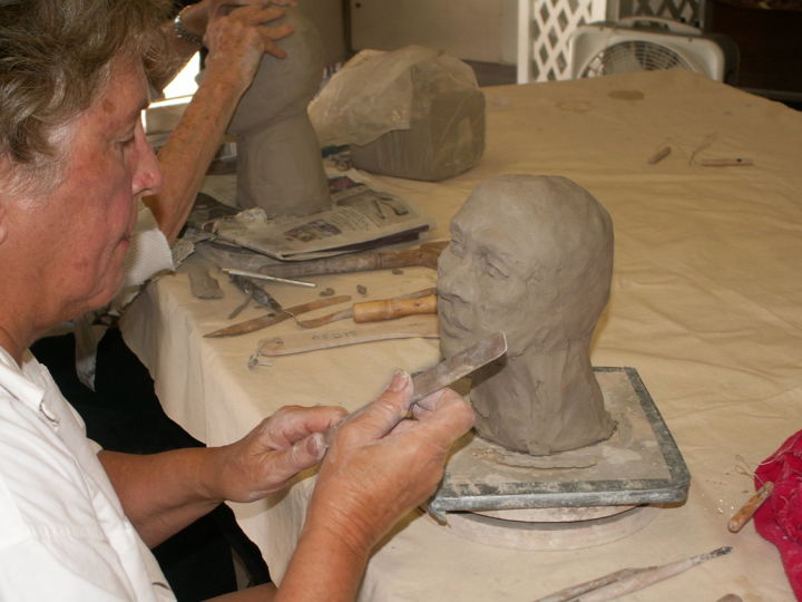 CERAMIC SCULPTURE CLASS - Events / Personal Photos, ©2010 by Puchi -