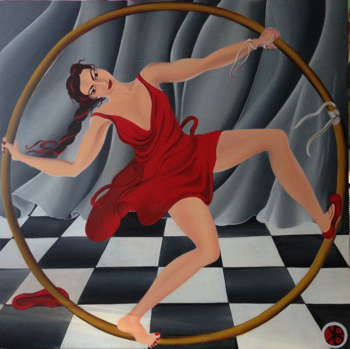 """Painting titled """"circling-eloise-spr…"""" by Bel Kais, Original Art,"""