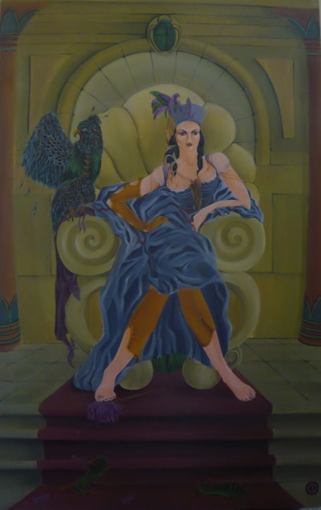 """Painting titled """"throne-2009-1m20-80…"""" by Bel Kais, Original Art, Acrylic"""