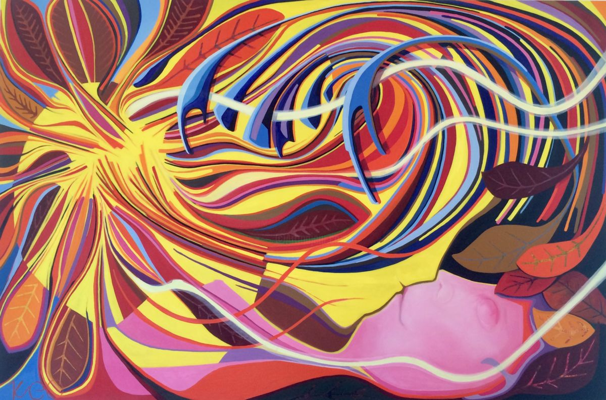 Songes - Painting,  120x170x5 cm ©2013 by Richard Pueo -                                                    Abstract Art, Pop Art, Canvas