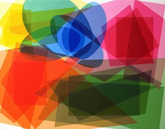 """Painting titled """"Colors and Shapes"""" by Punit Vaidya, Original Art,"""