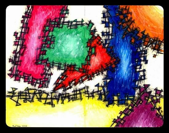 """Painting titled """"Shapes and Colors"""" by Punit Vaidya, Original Art,"""
