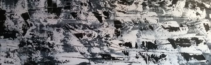 """Painting titled """"Chaos cosmique"""" by Punto, Original Art, Acrylic"""