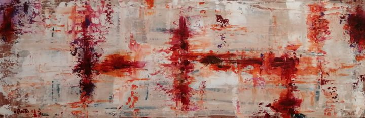 """Painting titled """"Old Wall Paper"""" by Punto, Original Art, Acrylic"""