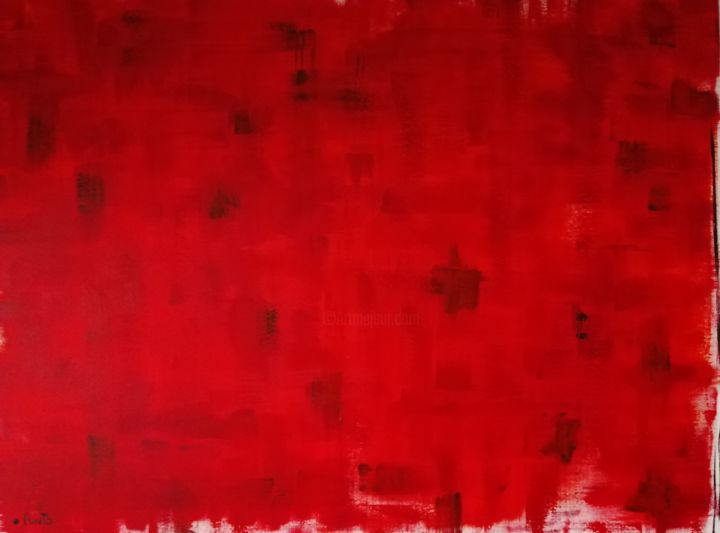 """Painting titled """"Rosso & Rosso"""" by Punto, Original Art, Acrylic"""