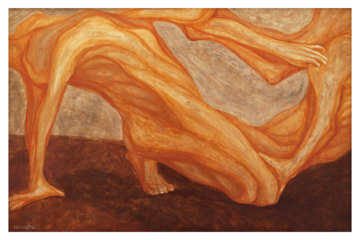 """Painting titled """"CLONING - Lacquer p…"""" by Nguyen Cuong Nguyen Manh Cuong, Original Art, Lacquer Mounted on Wood Panel"""
