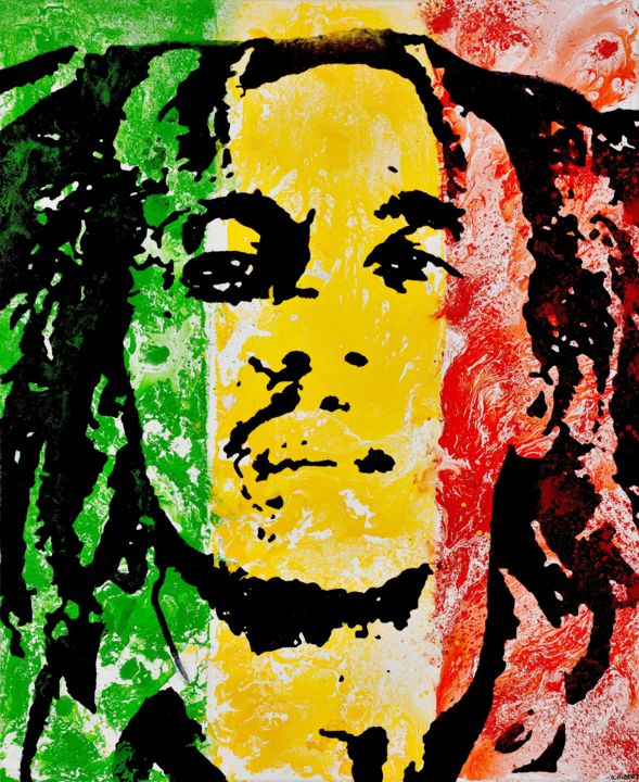 Bob Marley Painting Canvas - Painting Ideas