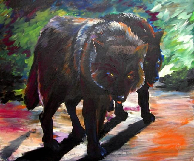 """Painting titled """"Stalking the Dawn"""" by Clifford Vanmeter, Original Art, Oil"""