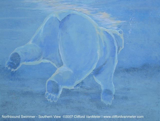 """Painting titled """"Northbound Swimmer-…"""" by Clifford Vanmeter, Original Art, Oil"""