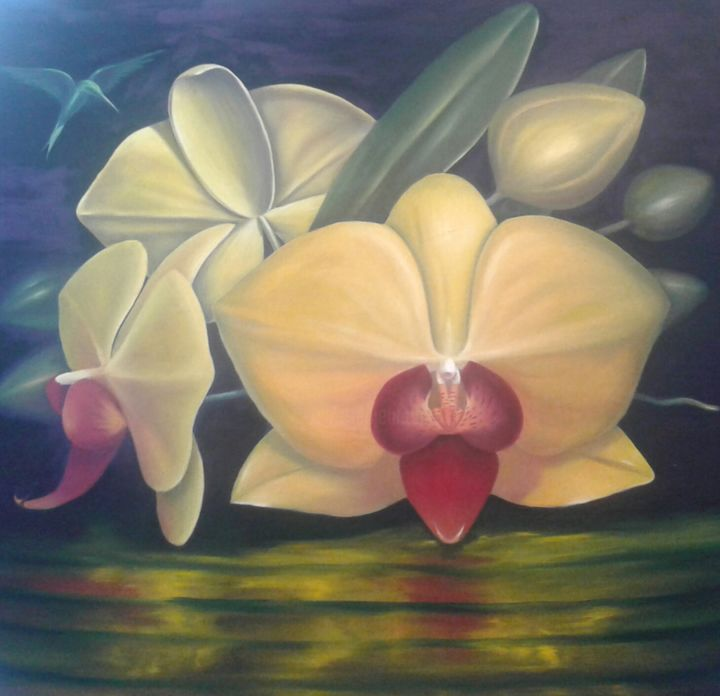 simple orchids paintings - HD1200×1160
