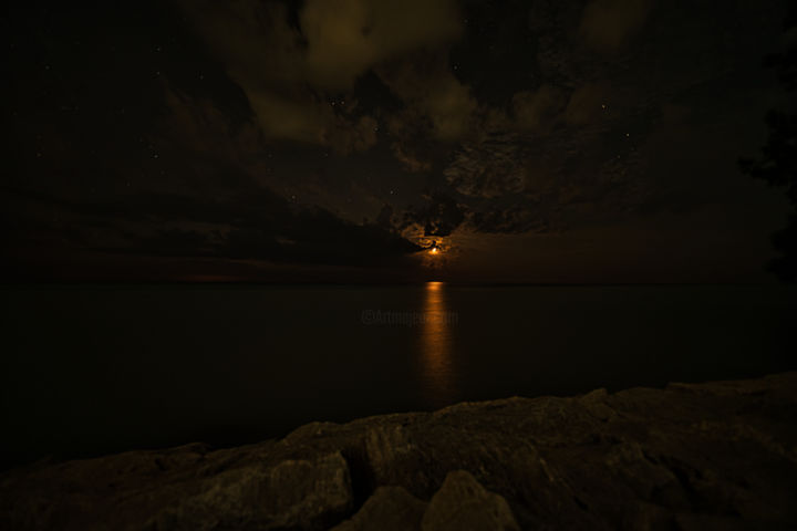 """Photography titled """"Glimmering moonligh…"""" by Rahul, Original Art, Digital Photography"""