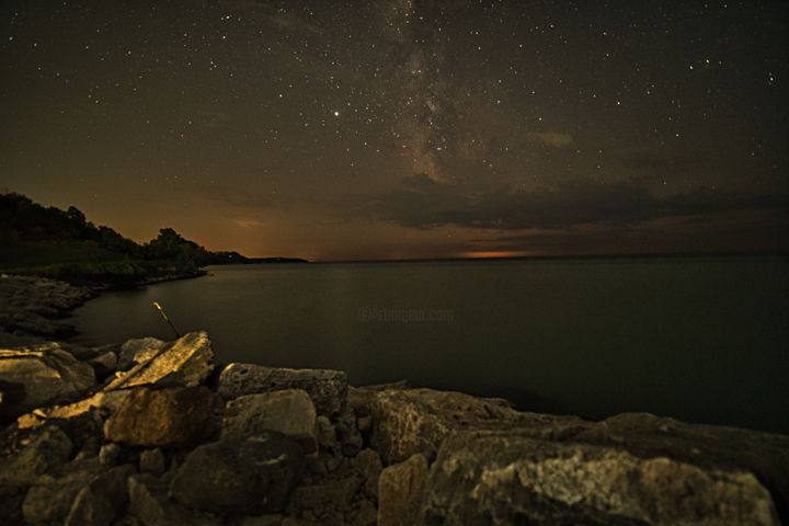 """Photography titled """"Milky way over wate…"""" by Rahul, Original Art, Digital Photography"""