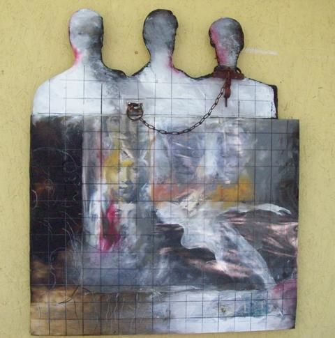 """Collages titled """"Trinity"""" by Sylvester Hickmon, Original Art,"""