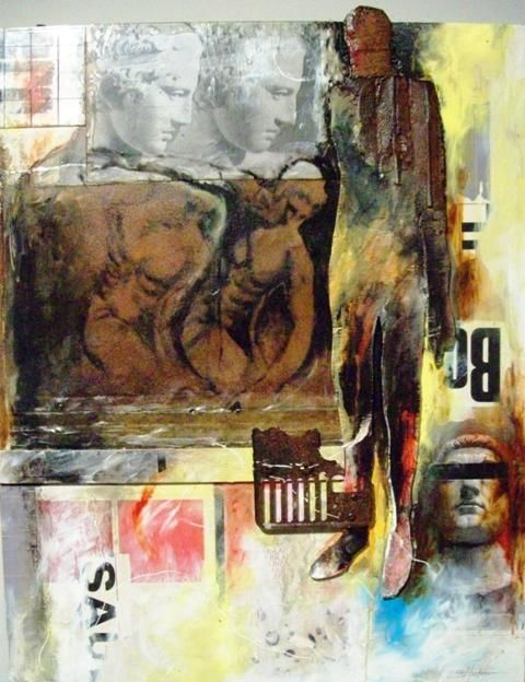"""Collages titled """"The Game"""" by Sylvester Hickmon, Original Art,"""